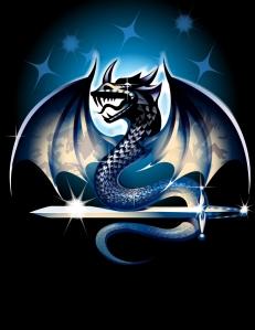 Blue Fantasy Dragon