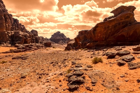 Canyon on Alien Planet