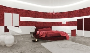 Red Luxurious Bedroom