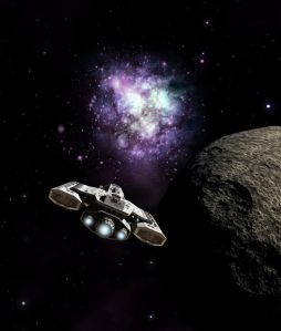 Spaceship and Asteroid